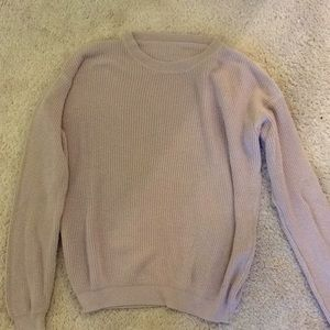 Brandy Melville Blush Pink Ollie Sweater